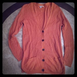 Halogen orange small sweater. Pre-owned.